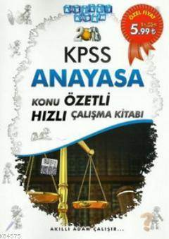 2013 KPSS Anayasa Konu Özetli Hızlı Çalışma Kitabı