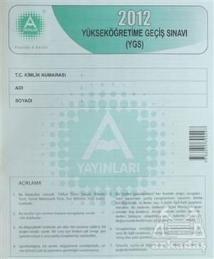 2012 Yüksek Öğretime Geçiş Sınavı (Ygs)