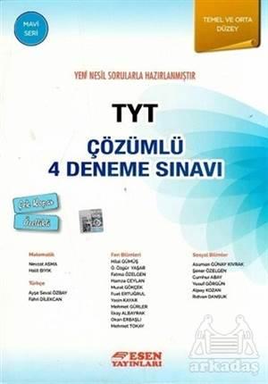 TYT Çözümlü 4 Deneme Sınavı Mavi Seri