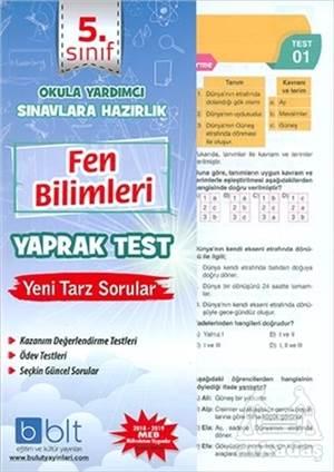 5. Sınıf Fen Bilimleri Yaprak Test