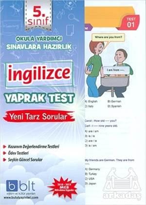 5. Sınıf İngiilizce Yaprak Test