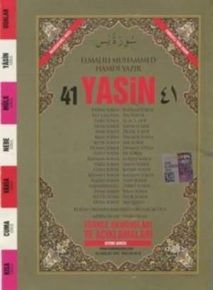 41 Yasin Arapça Ve Türkçe Okunuşlu Mealli Fihristli Cep Boy