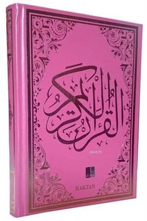 Gül Desenli Renkli Kur'an-I Kerim (Kod:H-10, Orta Boy, Pembe)