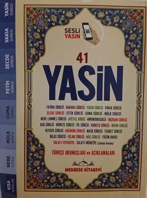 Türkçe Okunuşlu Ve Mealli, Sesli 41Yasin-İ Şerif; (Çanta Boy)