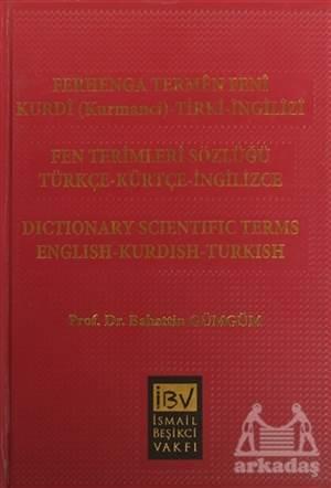 Ferhenga Termen Feni / Fen Terimleri Sözlüğü (Türkçe-Kürtçe-İngilizce)