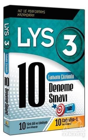 LYS 3 Tamamı Çözümlü 10 Deneme Sınavı