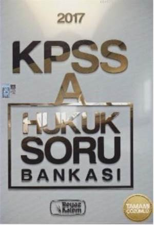 KPSS A Grubu Hukuk Soru Bankası 2017
