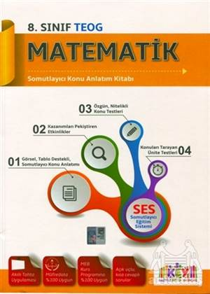 8. Sınıf Matematik Somutlayıcı Konu Anlatım Kitabı