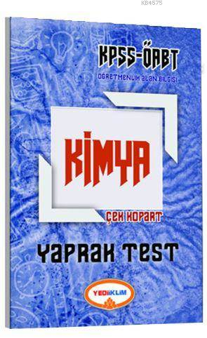 2017 ÖABT Kimya Öğretmenliği Çek Kopart Yaprak Test