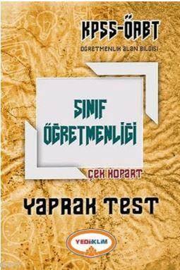 KPSS ÖABT Sınıf Öğretmenliği Çek Kopart Yaprak Test 2017