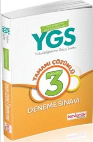 YGS Tamamı Çözümlü 3 Deneme Sınavı; (Büyük Boy)