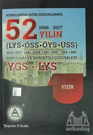 2018 YGS - LYS Fizik Konularına Göre Düzenlenmiş 52 Yılın Soruları Ve Ayrıntılı Çözümleri