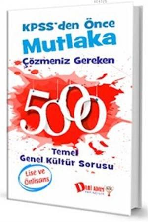 KPSS Lise-Önlisans 5000 Temel Genel Kültür Sorusu 2016