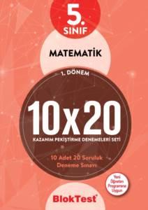 5. Sınıf Bloktest Matematik 10X20 Kap Denemeleri 1. Dönem