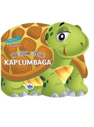 Şekilli, Eğitici, Eğlenceli Boyama Kitabı - Kaplumbağa