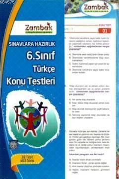 6. Sınıf Türkç Konu Testleri