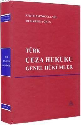 Türk Ceza Hukuku Genel Hükümler (Ciltli)