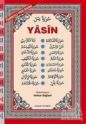 Orta Boy  Arapça Fihristli Yasin-İ Şerif (Kod: 025)